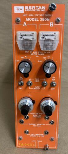 Bertan Associates Model 380N 10KV High Voltage Supply NIM BIN Plug In
