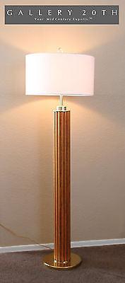 WOW! RARE MID CENTURY MODERN TEAK FLOOR LAMP! TIKI BALI EAMES 60'S VTG 50S BRASS