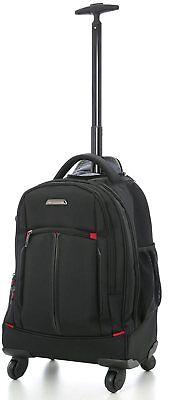 "21""Aerolite 4 Wheel Trolley Backpack Executive Mobile Office Business Laptop Bag"