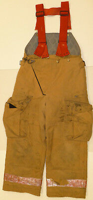 32x26 Pants Suspenders Firefighter Turnout Bunker Fire Gear Globe P863
