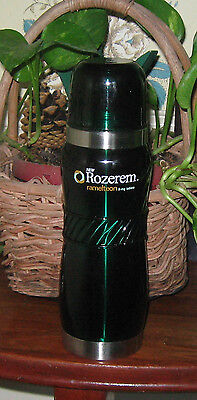 Rozerem Dark Green Thermos Bottle NEW IN BOX Collectible