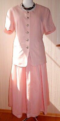 Apart - Kostüm Blazer mit Rock wadenlang rosa Gr. 42