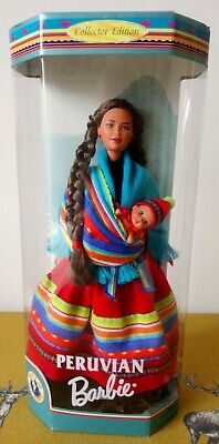 1998 Collector Edition ~ PERUVIAN ~ Dolls Of The World Barbie ~ Rare In UK~ NRFB