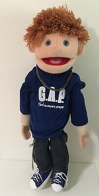 """Sunny & Co. Toys 28"""" Full-Bodied Ventriloquist Puppet, Boy with GAP Shirt - EUC"""