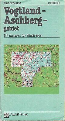 Wanderkarte Vogtland-Aschberggebiet, 1:50.000, DDR 7. Auflage 1985