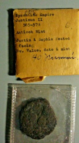 Justin II Byzantine (565-578) Antioch Mint Justin & Sophia Seating facing