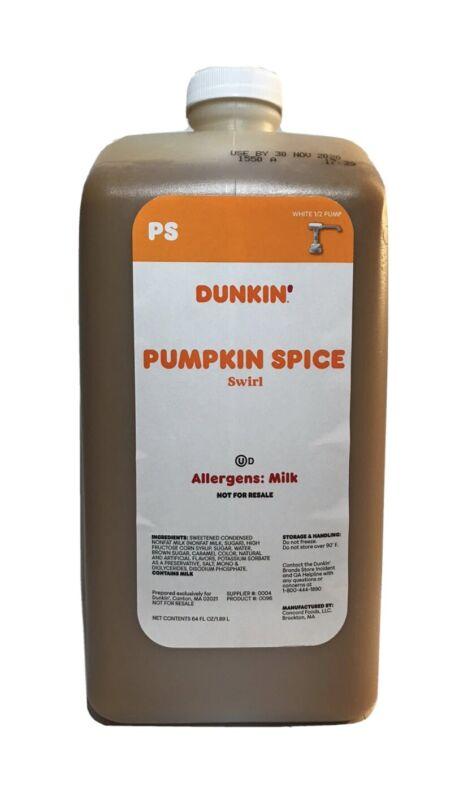 Dunkin Donuts Pumpkin Spice Swirl 64 Oz Jug No Pump