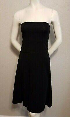 Lululemon Beat the Heat/Dirt Renew Dress Strapless Black Print Reversible sz10?