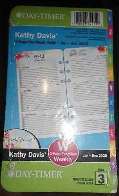Kathy Davis 2-page-per-week Planner Refill Sz 3 3.75 X 6.75 Portable