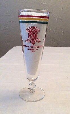 Krewe Of Moslem 1953 Toasting Glass Mardi Gras Favor Carnival New Orleans