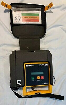 Lifepak 500t Aed Training Defibrilllator Medtronic W Case