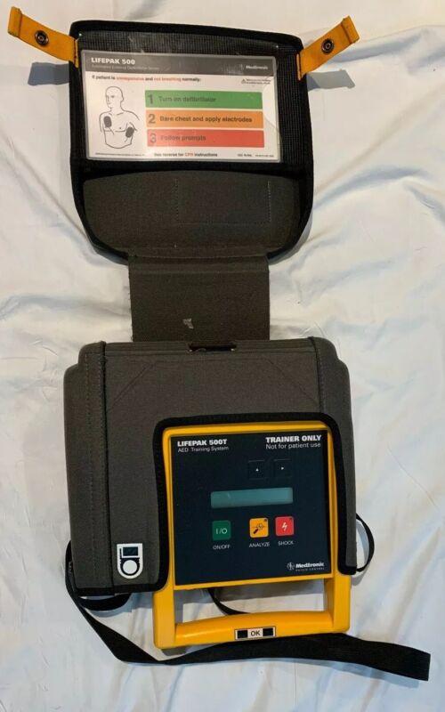 LIFEPAK 500T AED Training Defibrilllator Medtronic w/  Case