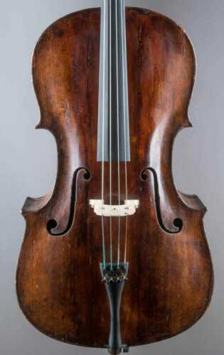old 7/8 cello by Johann Andreas DOERFFEL, Klingenthal 1752