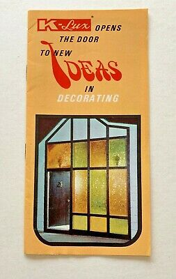 1968 booklet - K-lux Opens the Door to New Ideas in Decorating](Door Decoration Ideas)