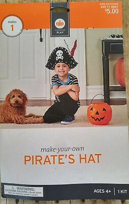 Pirate Hat Costume Craft Kit NEW Playtime Ages 4+ DIY Make Party Pirate Birthday