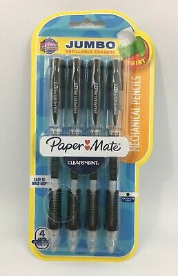 Paper Mate Clearpoint Mechanical Pencil 0.7 Mm Black Barrel Refillable 4pack