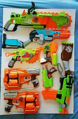 Nerf zombie strike lot of 8 guns