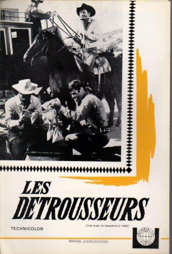 WESTERN Jack LORD Pressbook MGM LES DÉTROUSSEURS  RIDE TO HANGMAN