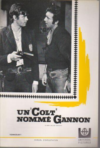 WESTERN Tony FRANCIOSA Michael SARRAZIN Pressbook MGM UN COLT NOMME  GANNON