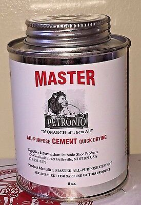 Contact Cement - Petronios Master Contact Cement 8oz Glue Shoe sole Adhesive Shoe Repair Cement