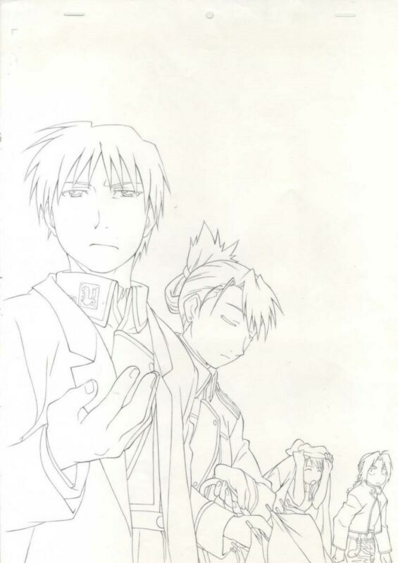 Anime Genga not Cel Full Metal Alchemist Hanken 2 pages #11