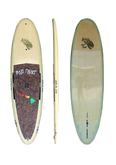 Blue Planet Nirvana Bamboo Model Stand Up Paddleboard SUP