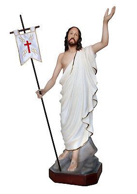 A cm 60 estatuo a jesus Ressurgida resina Polyester