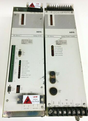AEG Gettys A700 AC Servo Controller A760-001 and Power Supply PS15A-100
