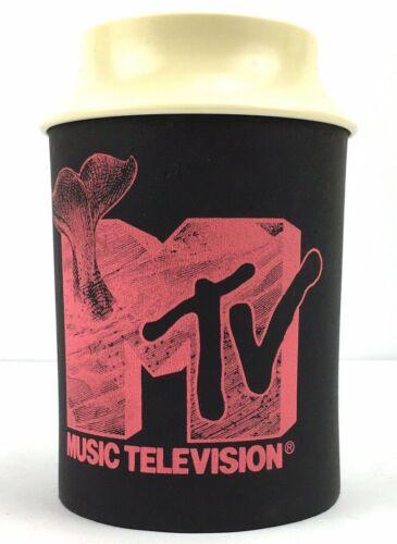 Vintage 1991 MTV Koozie Kup Retro Cooler Foam & Plastic Beer Can Bottle Coozie