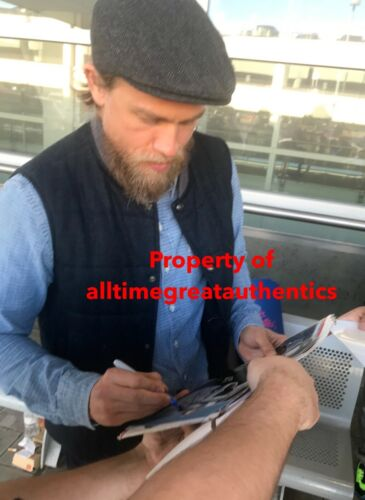 ACTOR CHARLIE HUNNAM SIGNED SONS OF ANARCHY 8x10 SHOW PHOTO w/COA 3 PROOF JAX