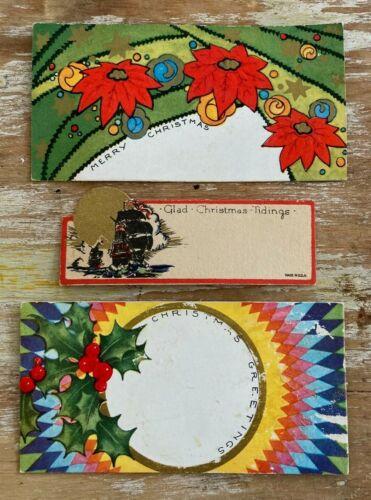 Vintage Christmas gift tags unused 1930