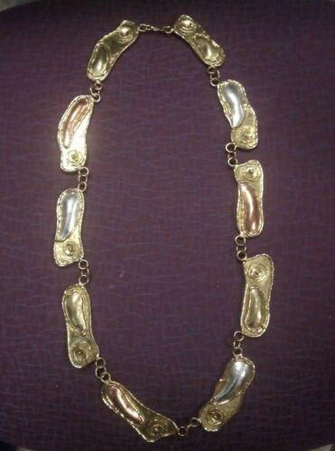 """Rare Signed Luciano Vintage Brutalist Necklace/belt 31"""""""