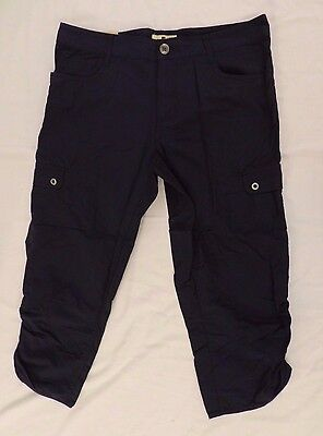 NWT Woolrich Capris Ladies Womens Hiking Camping Navy Blue Size 8 RUNS LARGE
