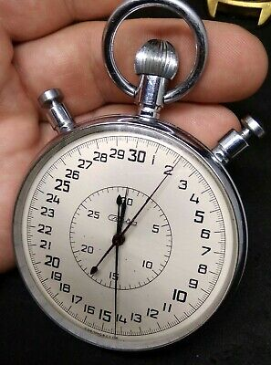 RARE Soviet Stopwatch SLAVA mechanical vintage made in USSR. NOT WORKING