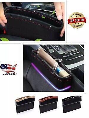 Car Seat Side Pocket Organizer Caddy Catcher Gap Filler Car/Truck/SUV US Black