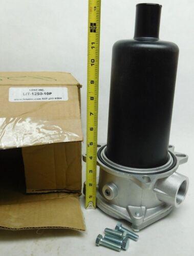 """NEW! LENZ Inc. LIT-1250-10P 1-1/4"""" NPT, 10-MICRON, 25 PSI BYPASS FREE SHIP! (JJ)"""