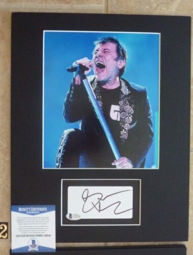 Bruce Dickinson Iron Maiden Signed 11x14 Matted Photo Display #2 BAS Certified
