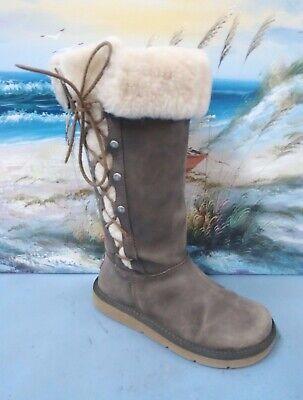 UGG Australia Upside Boot Humous Leather 5167 SIZE 5 GRAY for sale  Dayton