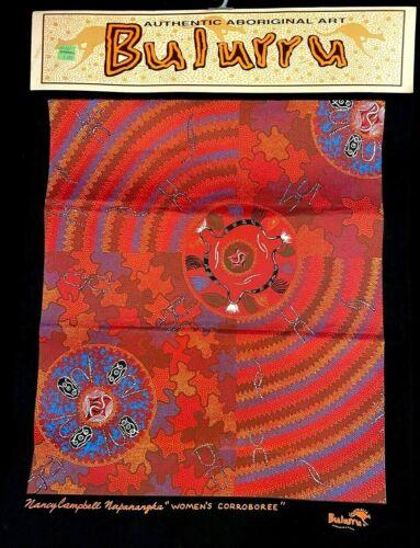 Bulurru Authentic Aboriginal 15.5 x 20.5 Art Panel by Nancy Campbell Napanangka