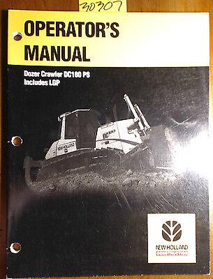 New Holland Dc180 Ps Lgp Dozer Crawler Owners Operators Manual 60400892 701