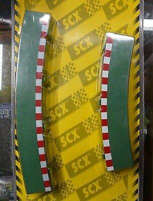 1/32ème 8 BORDURES POUR VIRAGES SUPER EXTERIEURS SCX 87960 NEUF SYSTEME SCALEX