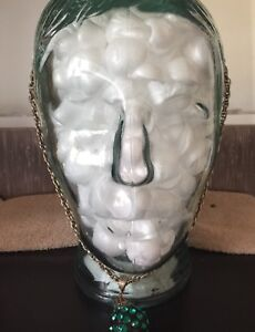 3-D glass head for home decor, hold wigs or styling