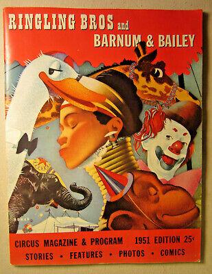 Ringling Bros And Barnum & Bailey Circus Magazine & Program 1951 Edition Bros Barnum & Bailey Circus