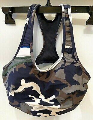 THE UPSIDE CAMO CAMOUFLAGE FOR SOUL CYCLE bra top; SIZE 6; SMALL