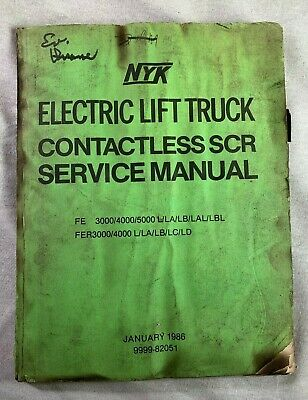 Nyk Electric Fork Lift Truck Factory Service Shop Repair Manual