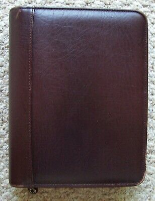 Franklin Covey Brown Top Grain Cowhide Leather Classic Planner 7-ring Binder