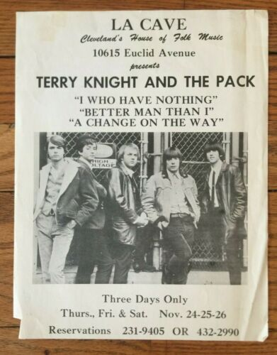 Vintage La Cave Cleveland House Of Folk Terry Knight And The Pack Promo Ad Flyer