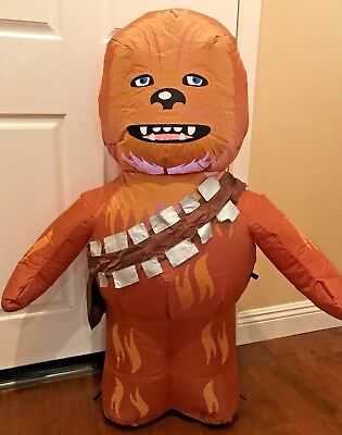 NEW 3.5 FT TALL GEMMY CHRISTMAS STAR WARS DISNEY CHEWBACCA LED INFLATABLE
