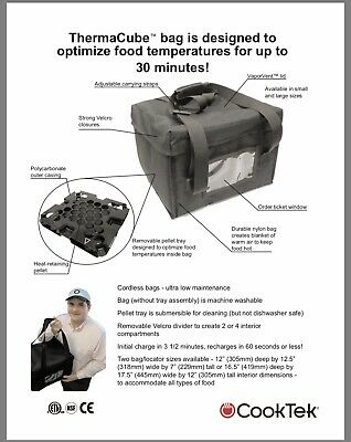 New Cooktek Thermacube Delivery Bag With Convention Tray For Tcs 100 Model.