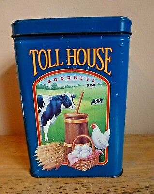 """Nestle Toll House Cookies Retro Vintage Limited Edition Metal Tin 6"""" Home Decor"""